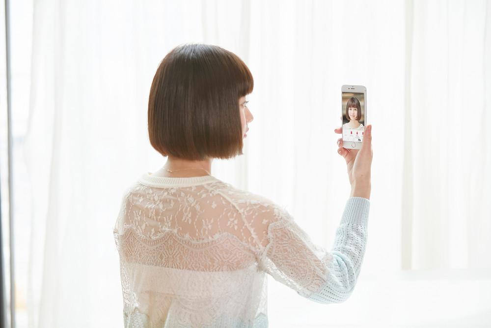 資生堂 アプリ ワタシプラス カラーシミュレーション 使用イメージ