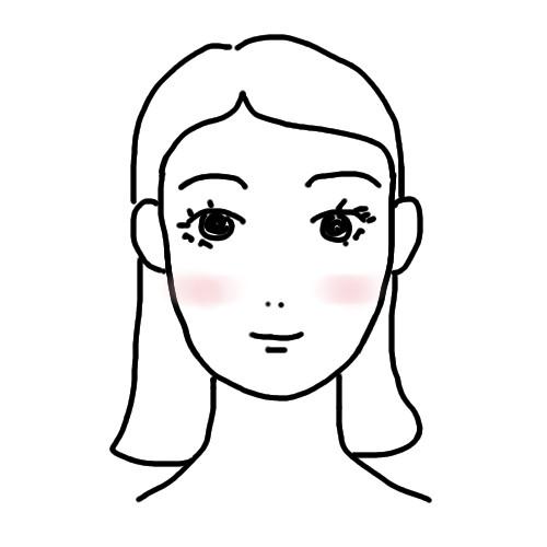 チークの入れ方 顔型別 面長